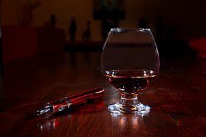 Cognac mit e-Zigarette