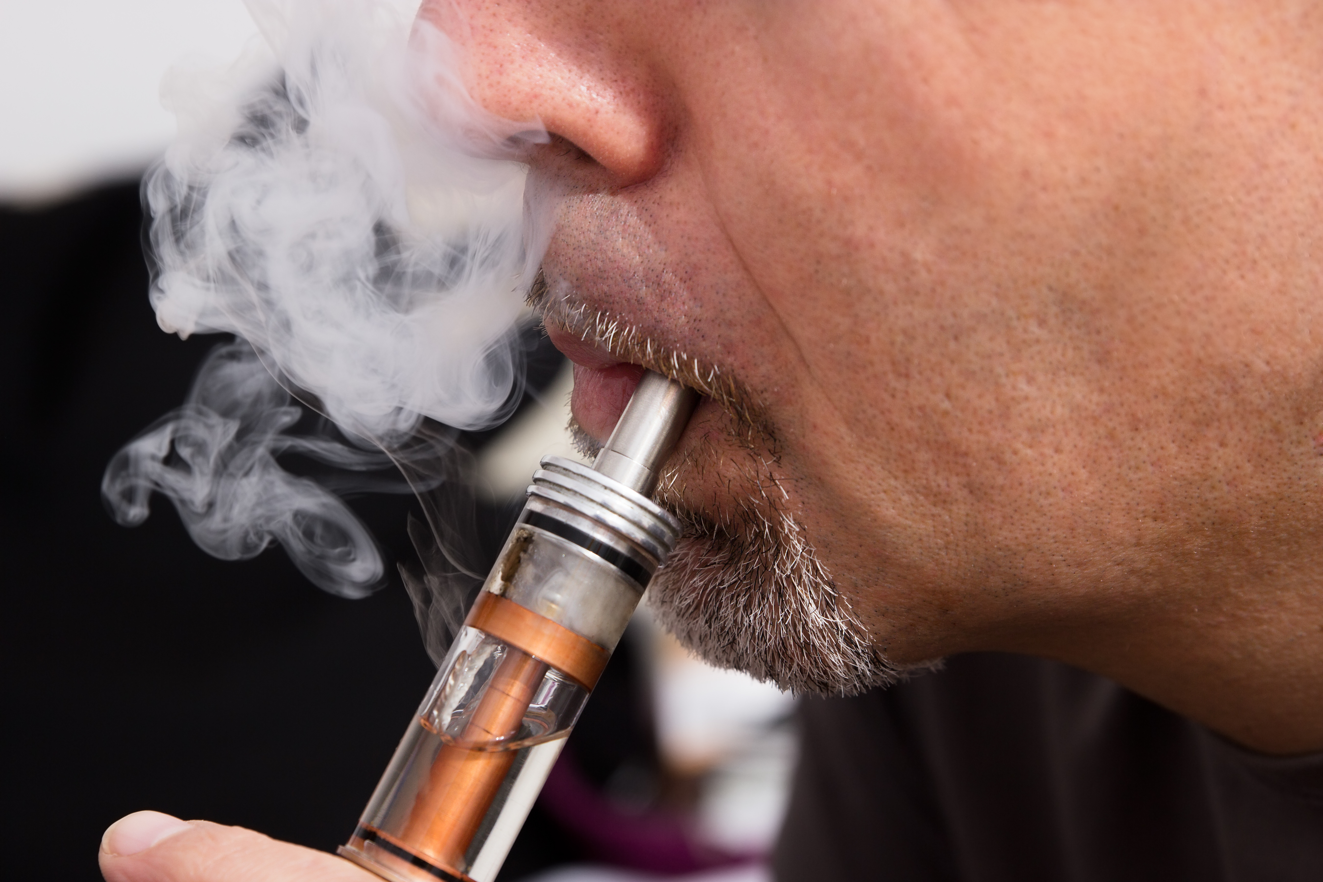 Elektrische Zigarette mit Dampfentwicklung