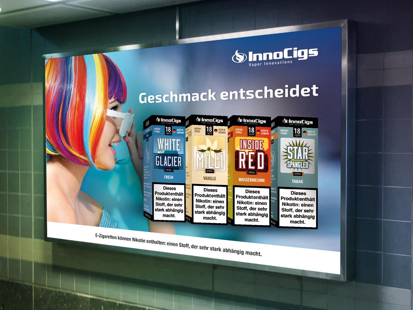 Geschmack entscheidet: InnoCigs startet Kampagne mit 5-fachem Budget
